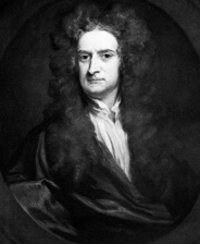 I. Newton; by Sir Godfrey Kneller, 1702(National Portrait Gallery)